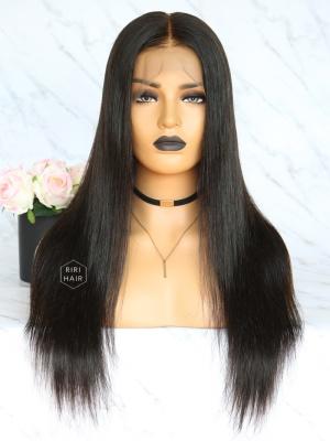 Black Straight 360 Frontal Wig Virgin Human Hair [360W01]