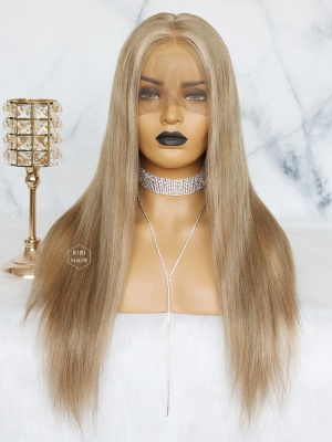 Ash Blonde with Highlight Virgin Brazilian Hair Full Lace Wig [STELLA]