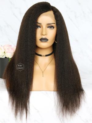 Virgin Brazilian Hair Kinky Straight Full Lace Wig [RFW04]