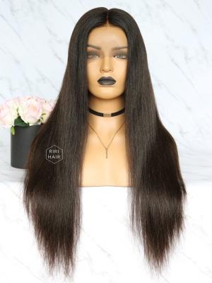 Yaki Straight Virgin Brazilian Hair Full Lace Wig [RFW03]