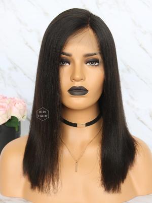 Yaki Straight Black Virgin Human Hair Bob Wigs [RBW06]