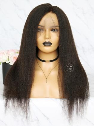 Kinky Straight 360 Frontal Wig Virgin Human Hair [360W04]