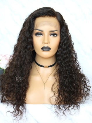 Virgin Brazilian Hair Natural curly Lace Front Wig [RLW11]