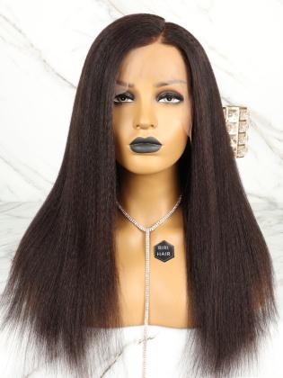 Blowout Kinky Straight 13X6 Frontal Wig Virgin Human Hair [RHW03]