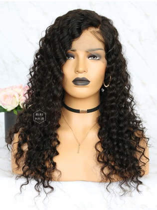 Deep Wave Virgin Brazilian Human Hair Lace Front Wig [RLW05]