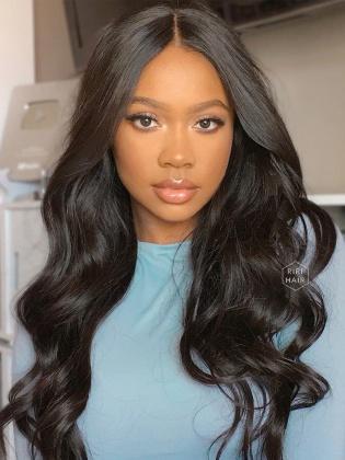 Sexy Wavy Pre-Plucked 13X6 Frontal Wig Virgin Human Hair [RHW08]