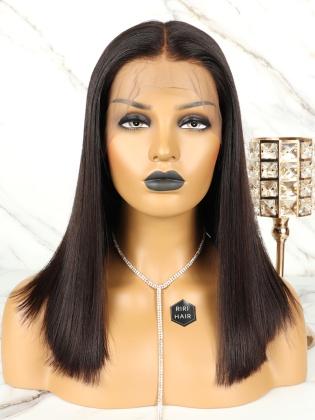Luxury Virgin Brazilian Hair Straight Lob Lace Front Wig [RBW20]